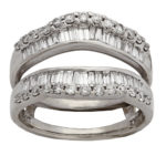 14k white gold lady diamond wedding band jacket