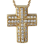 14k-yellow-gold-diamond-cross-necklace