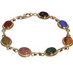 14k-yellow-gold-lady-multi-color-carved-agate-scarab-bracelet