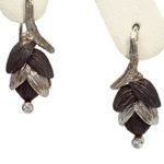 18k white gold Sarah Graham Rattlesnake Grass earrings