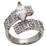 18k white gold lady diamond engagement ring