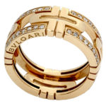 18k yellow gold Bvlgari Parenthis diamond band