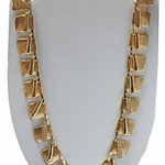 18k yellow gold fancy lady diamond necklace