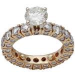 18k yellow gold lady diamond engagement ring