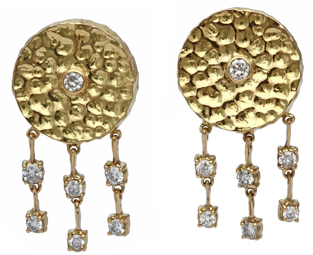 Diamond dangle earrings - National Pawn & Jewelry