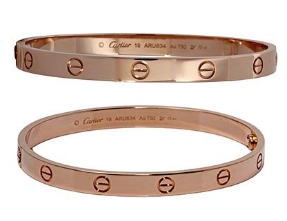 Cartier 18k Rose Gold Love Bangle Bracelet