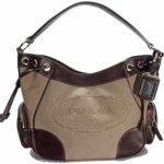 Authentic Prada hobo top handle satchel