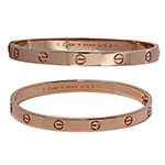 Cartier-18k-rose-gold-Love-bangle-bracelet