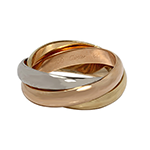 Cartier-18k-tri-color-gold-Trinity-roll-over-wedding-band
