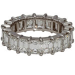 Lady platinum and diamond eternity band