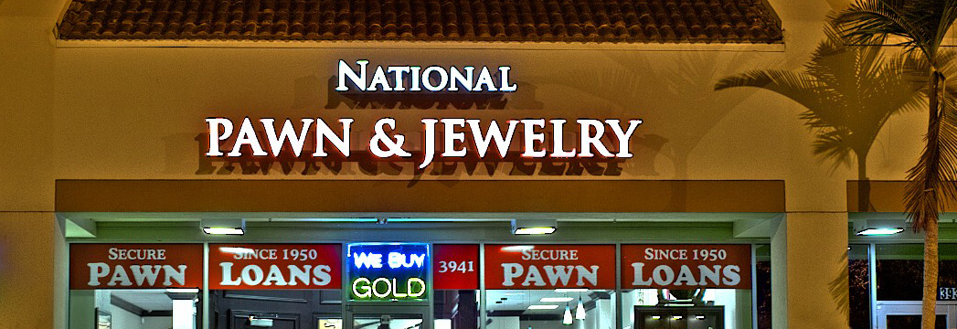 Exterior shot of National Pawn & Jewelry in Ft. Lauderdale